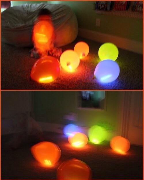 --> Put glow sticks inside a balloon.