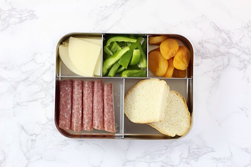 10 | Italian-Inspired Lunch ComboWhen I was a kid I would sit on my Grandparent's porch and eat salami and provolone sandwiches made on the freshest Italian bread imaginable.  1. Salami 2. Provolone 3. Green bell peppers 4. Italian bread 5. Dried apricots