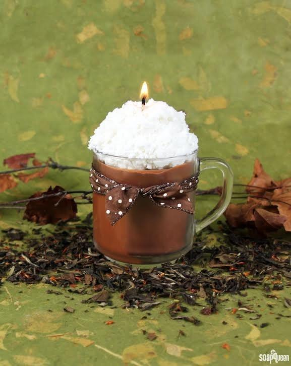 22. This one that looks and smells like a chai latte.  http://www.soapqueen.com/bath-and-body-tutorials/home-crafts/chai-tea-latte-candle-tutorial/