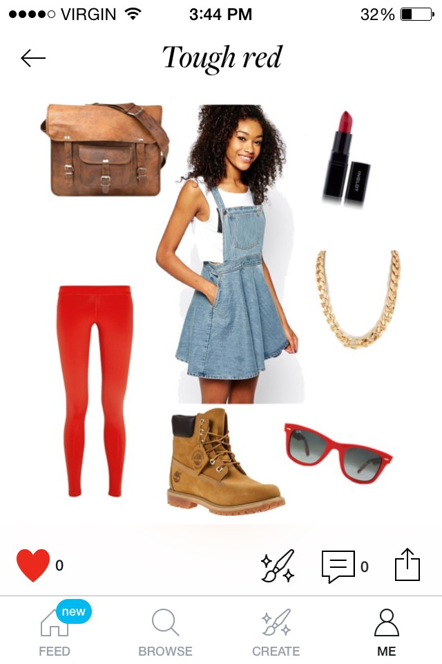 Pick a theme. If you saw something in a catalog or feel inspired by the weather, go with your gut. If it's snowy, go with blues. Going to a club, add some neon colors. This outfit was inspired by a barn yard