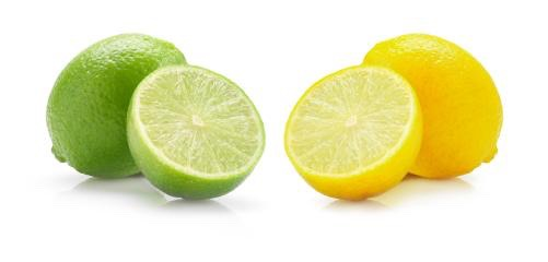 so get a small plate and put two teaspoons of bicarbonate of soda onto your plate and then squeeze your lemon or lime onto your plate and it will start to