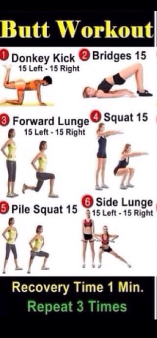 This is best exercise for butts.One of my friend do it for 1 month & get best results.