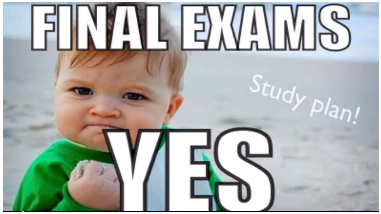Remember:  1) Start studying at least one week before your exam 2) Set aside times to study 3) Reward yourself afterwards-- whether with candy or watching your favorite tv show; whatever makes you happy 4) Get a good nights sleep 5) Eat well 6) Go in with confidence 7) Ace that exam!!!!
