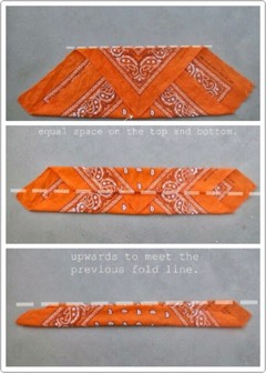 Bandanas are back, and super trendy but hard to fold. Hopefully this guide will help!
