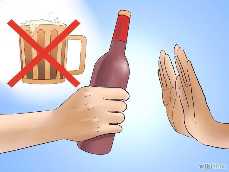 Cut down on alcohol.