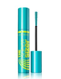 Mascara:  Brand: Covergirl Name: The Super Sizer  This mascara is Covergirl and makes your eyelashes longer. It is also good with making your eyes pop. You do have to work with it more but it is worth it if you are looking for the long-eyelashes effect