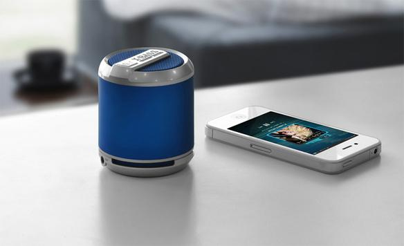 Bluetooth speaker With this gift, your guy can play his music straight from his phone! No strings (or wires) attached!
