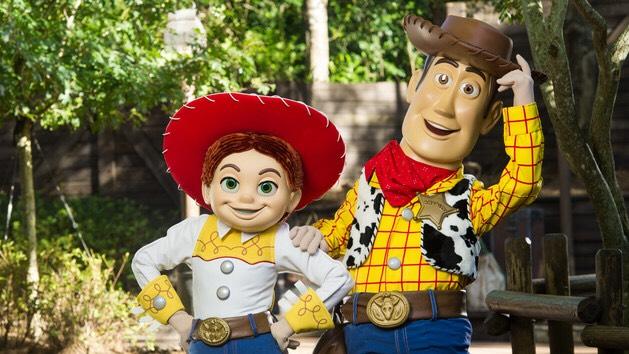 Woody & Jesse Located around Splash Mountain in Frontierland.