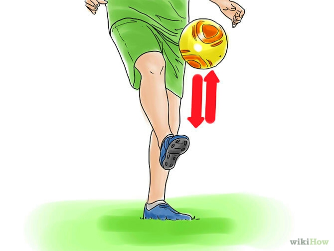 Then when you feel comfortable try kicking it with no bounces in between. keep it on one foot to start if with, then when you can do 100 juggles without dropping it move on to the next foot and then both.