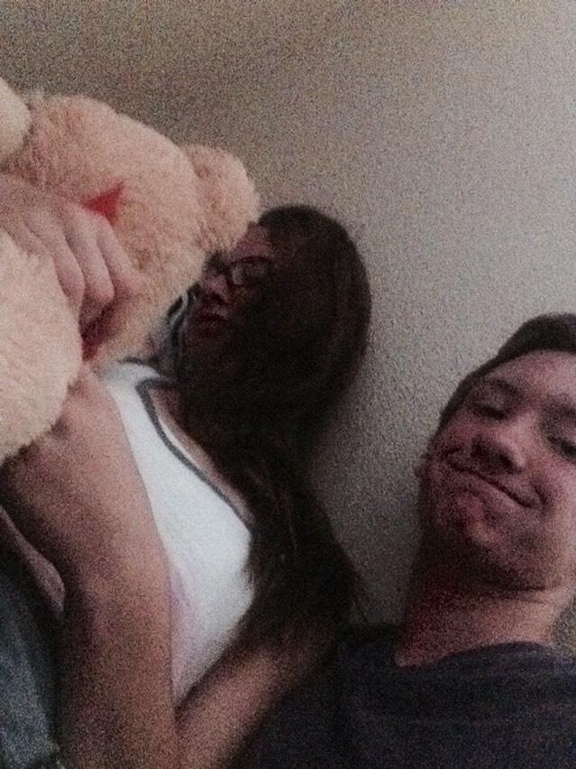 Bought me a teddy bear being sweet when I wasn't feeling well😘 so sweet
