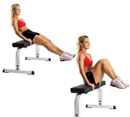 45 seated ab crunches ~arms and lower abdominal~