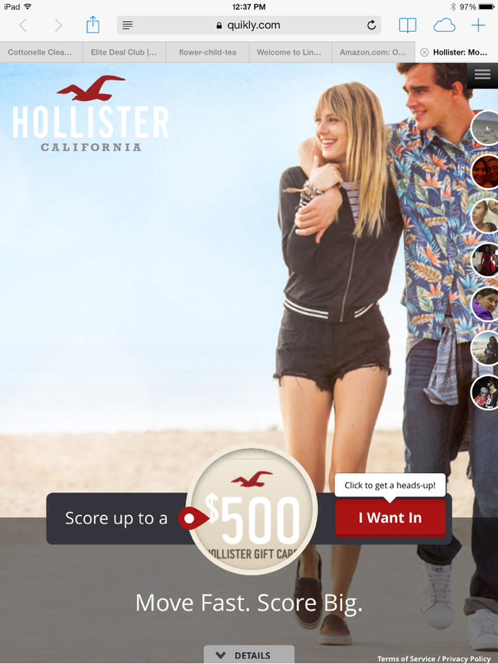 Win A Free Hollister Gift Card