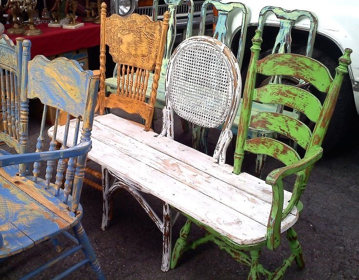 Porch Chairs Now that the weather is warmer, it's garage sale season! That means you can likely find a beautiful pair of porch chairs (bonus points if they are old-fashioned rockers). Clean them up by sanding them down, then give 'em a fresh coat of spray paint.