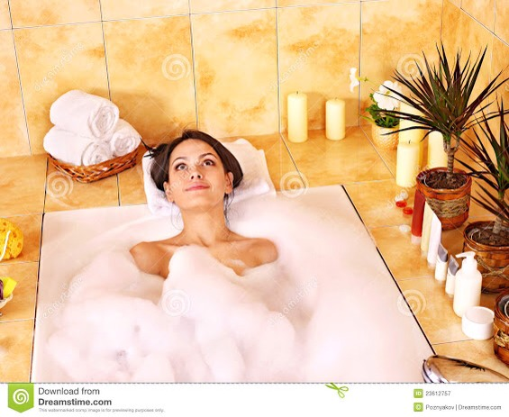 Take a bubble bath! Bubble baths are so amazing. They're warm, and really help in making not only you, but the tense muscles in your body relax! Also, the sweet smell of the bubbled will help you to calm down.