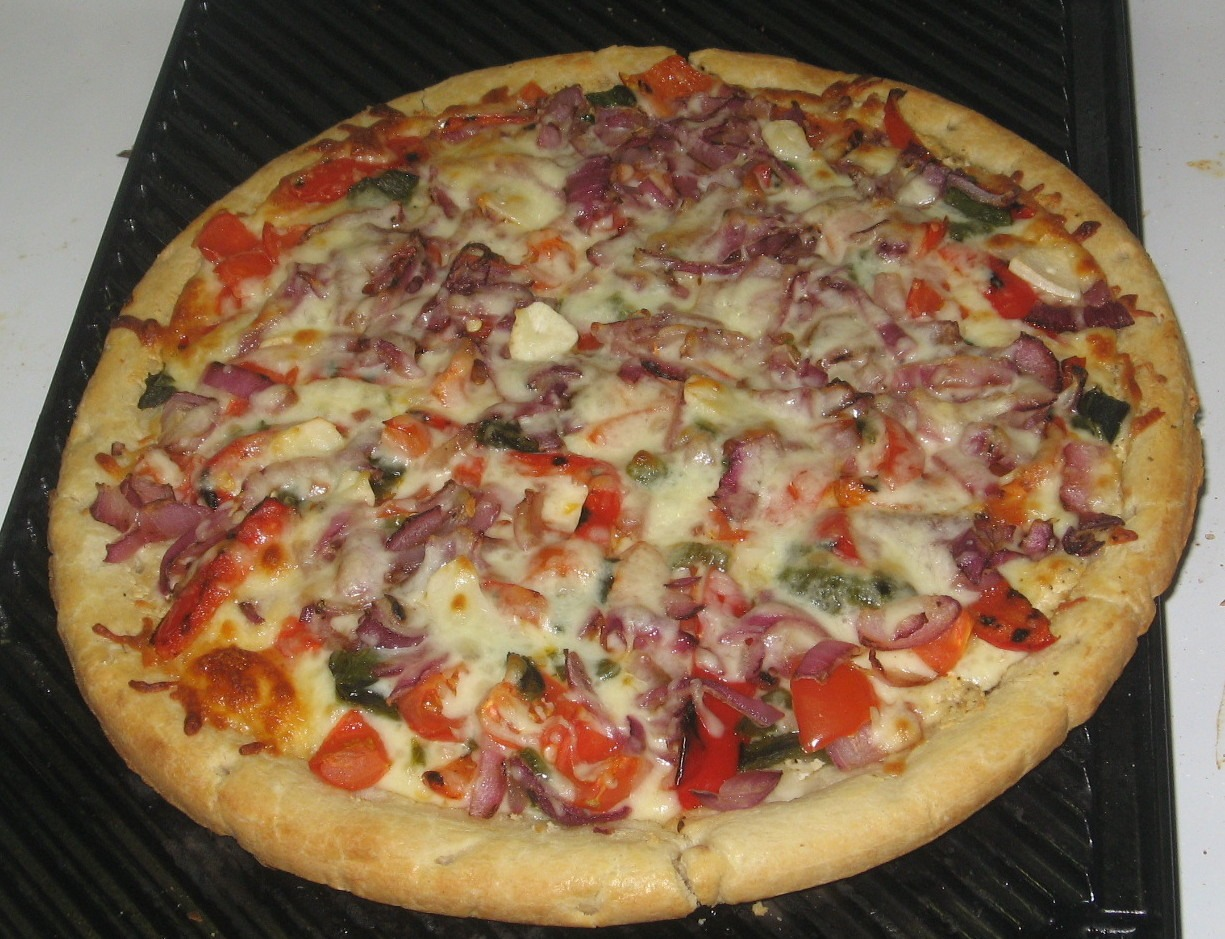 You can simply make a cheese pizza instead of all that ^^^^ lol.