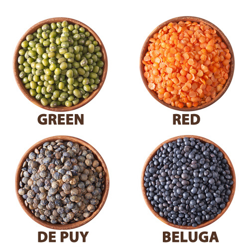 Lentils are rich in iron, essential so you don't feel tied and run down.