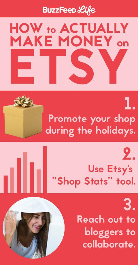 5. These secrets to actually making money on Etsy: