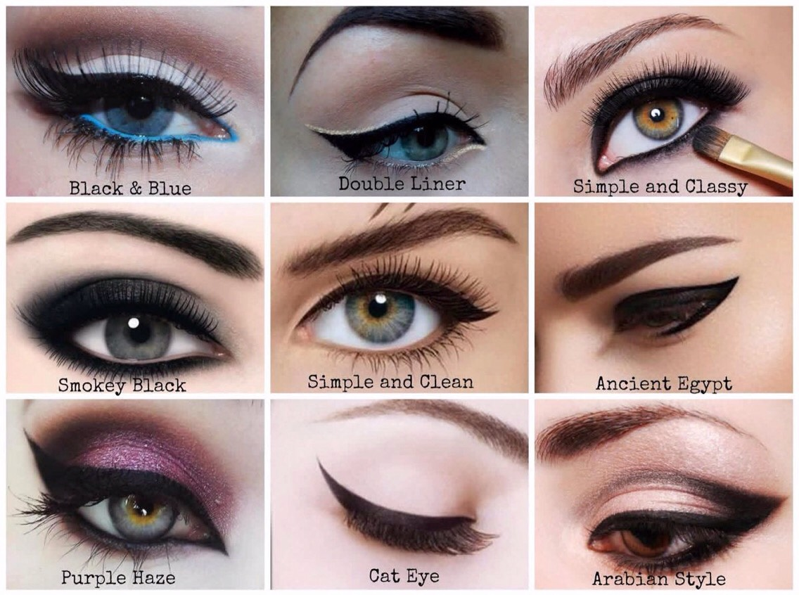6 Line your eyes in a cat eye shape. | A cat eye helps open your eyes + makes you look more awake. Even if you don't want to do a dramatic winged look, you can still throw in a small outward flick at the end to help widen those peepers.  **photo uses recommendation on next slide!**