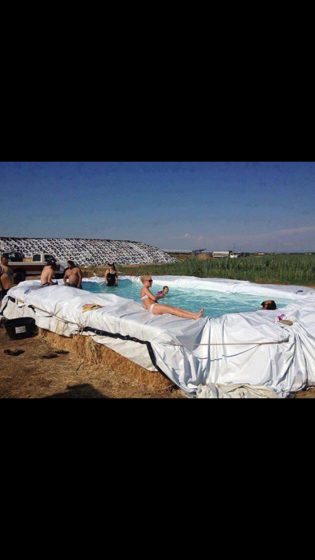 How To Build A Hay Bale Swimming Pool By Kris Marson Musely