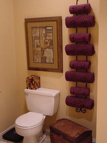 wine rack=towel holder
