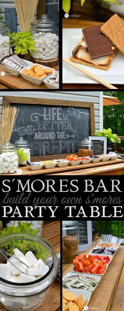 Having a summer bonfire? This is the perfect way to let your guests make their smores!🍫 #SummerVibes #Smores #SummerBonfire