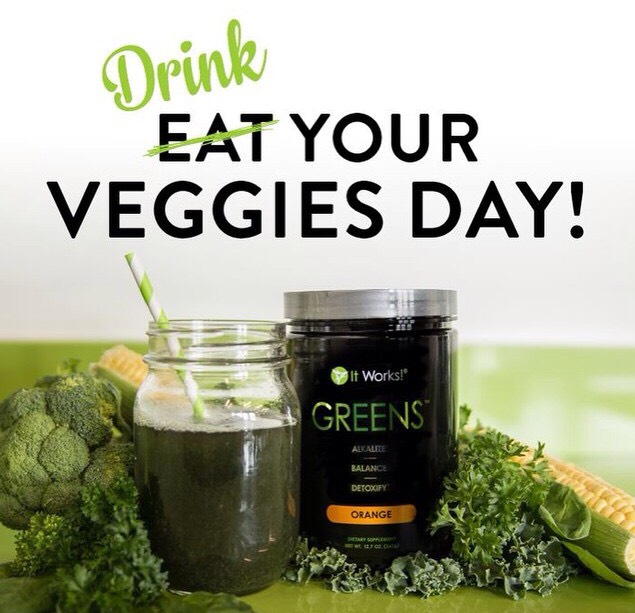 Drink your daily serving of 8+ fruits and vegetables in our delicious Greens! For more information please contact me at 219-575-8498 or http://courtneydanae.myitworks.com ☺️