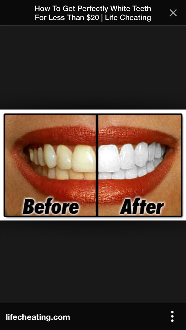 By doing this once every week, you will have a whiter and healthier smile!