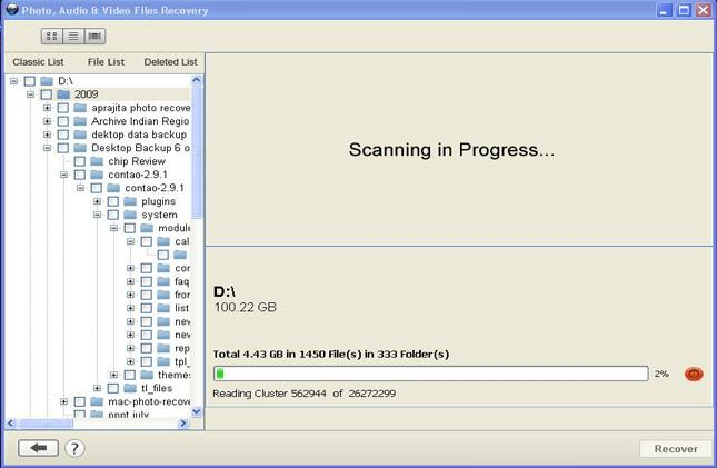 "Step 5 – After scanning, choose the files to preview and hit on ""Recover"" button to restore them."