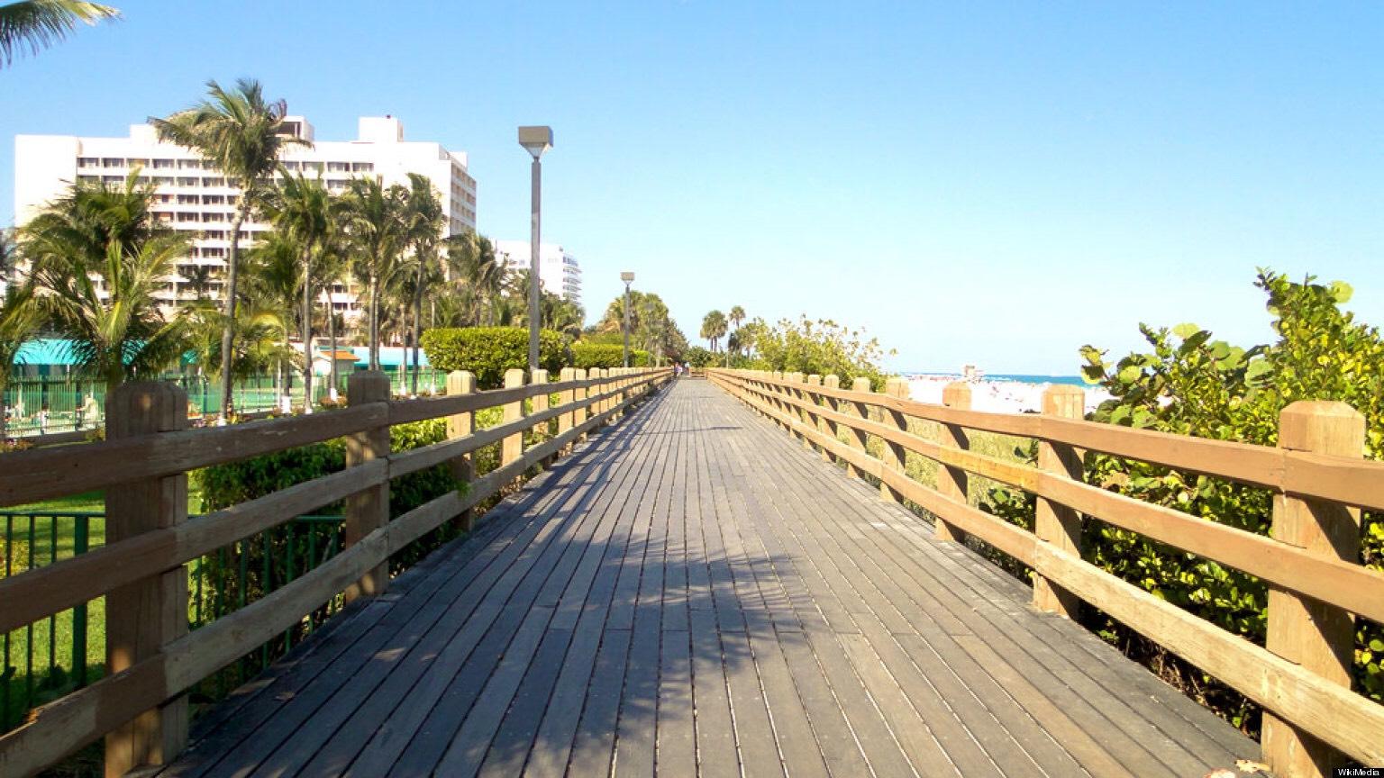Broadway walk at miami beach