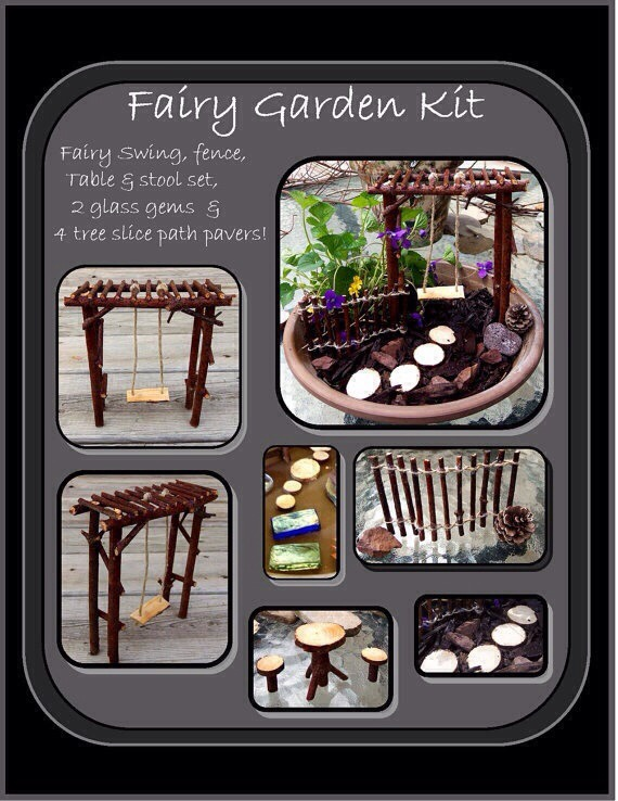 Such a cute idea, this would be a fun project for the kiddos! 😊👍💗 Get yours here! 👇 (Or you could always try and make your own!)  http://www.etsy.com/listing/150749804/fairy-garden-kitfey-gardenfairy-faerie (Double click to open the link!)