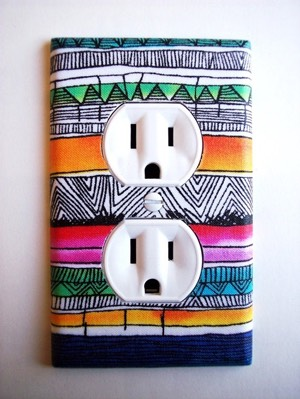 Customize your outlet covers with paint or washi tape.