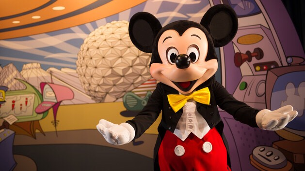 Mickey Mouse Can be found at Character Spot in Future World.