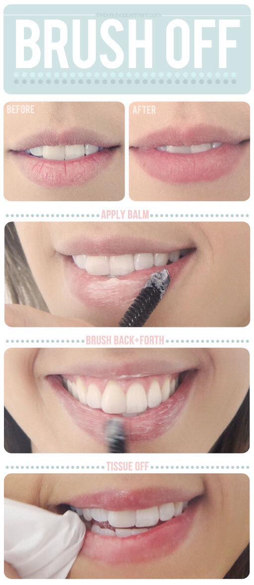 Scrub lip balm on your lips to make them super soft!