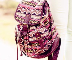 1. A school bag. These come in many different styles, patterns and colours. Perfect if you want to stand out in school