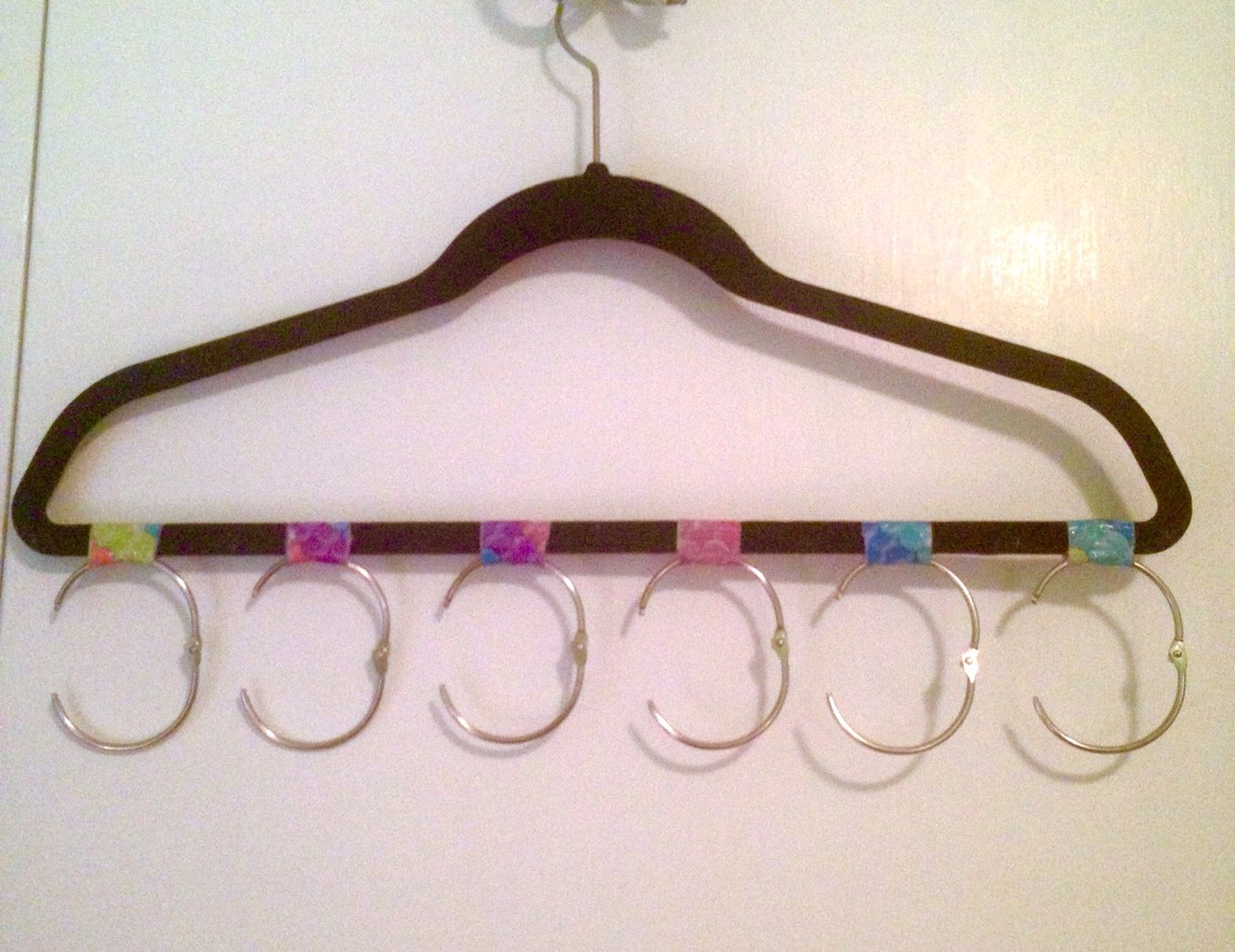 Your bandana/scarf organizer should look like this when you are done!