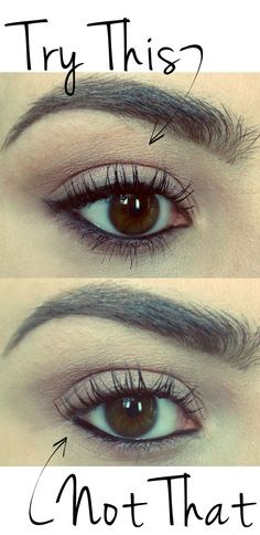 this is black eyeliner on the bottom water line, it makes your eye pop more and I personally like this better {I have really big eyes}