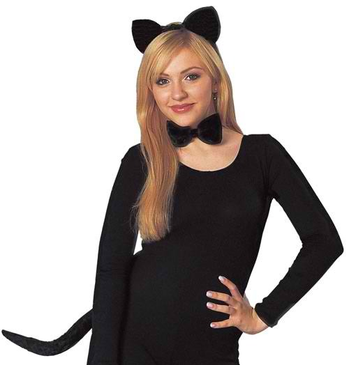 Cat, just wear all black and put on some ears and a tail. Makeup for this is simple as well.