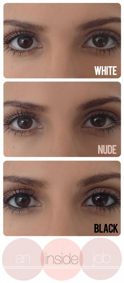 11. Go for a black, white, or nude waterline liner depending on what look you want to go for. White and nude typically make your eyes look larger.