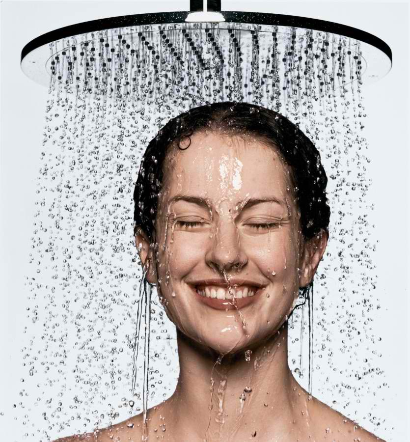 Next, finish your shower.