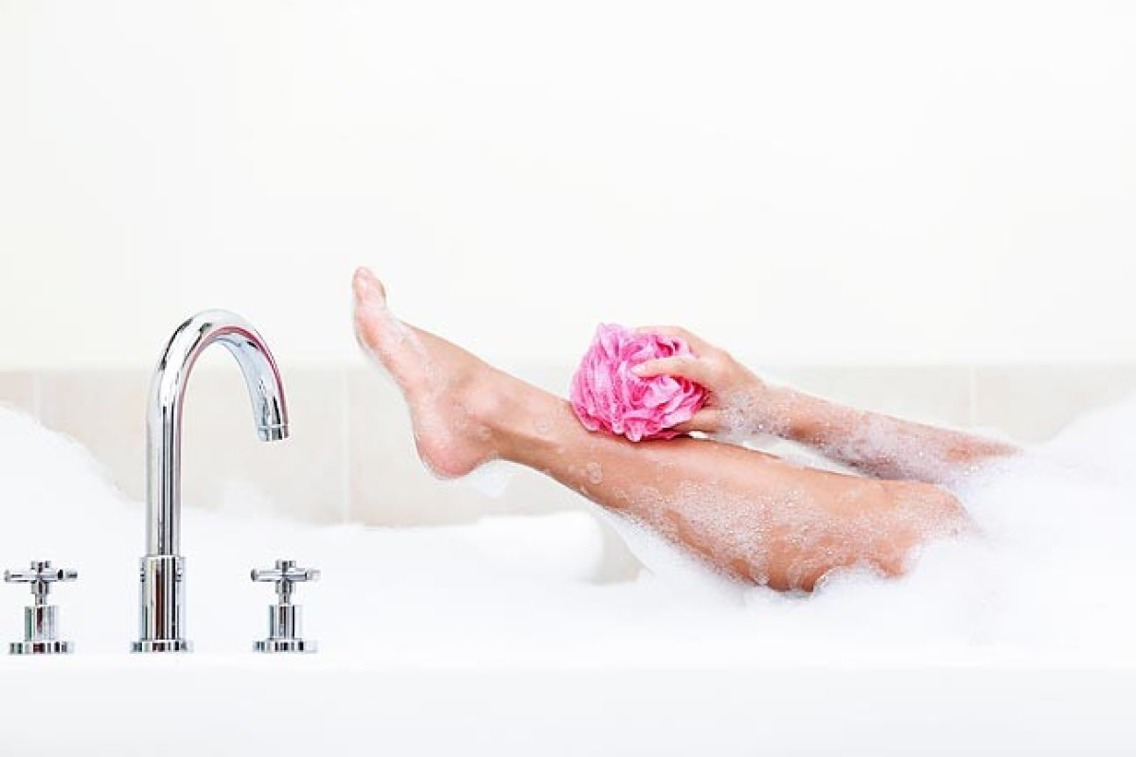 Shave your face, legs or underarms in the shower after standing under warm water for a few minutes. This will help open up hair follicles and will soften hairs so they're less coarse to shave.