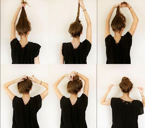 Use bobby pins/grip pins to secure the bun!