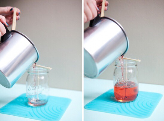 8. Candles  Jen Carreiro/Kollabora / Via kollabora.com Create you own ambience with personalized mason jar candles.