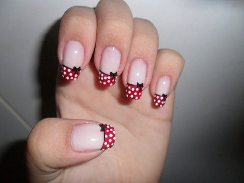 Minnie Mouse inspired nail designs . If you saved please like like :) - Love Minnie Mouse? Here Are Some Minnie Mouse Nail Designs.. If You