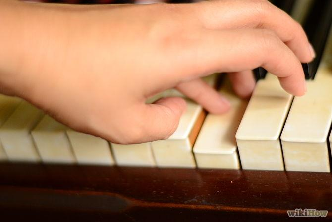 Move finger 1 to the left, and below the other fingers just when your finger 5 starts to go down to hit the F note key.