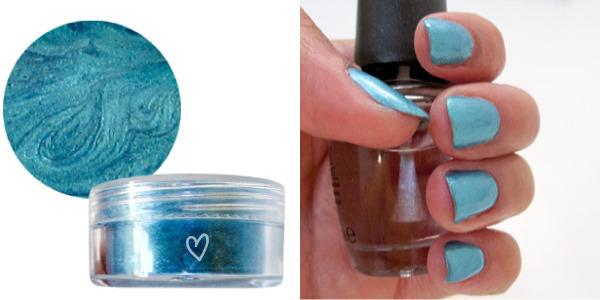 9. Turn eyeshadow into nail polish.