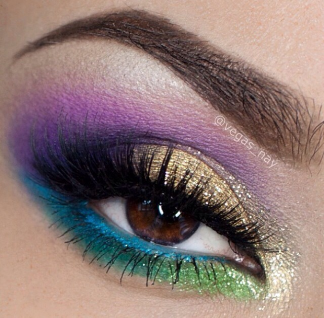 Image result for mardi gras eyeshadow ideas