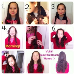 All you need to do it plait your hair into two plaits and undo them in the morning.
