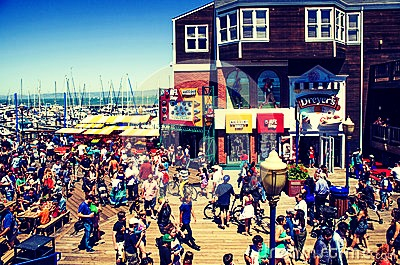 The Board walk- Beautiful peers filled with shops and resterants, also the boat that leads to Alcatraz.