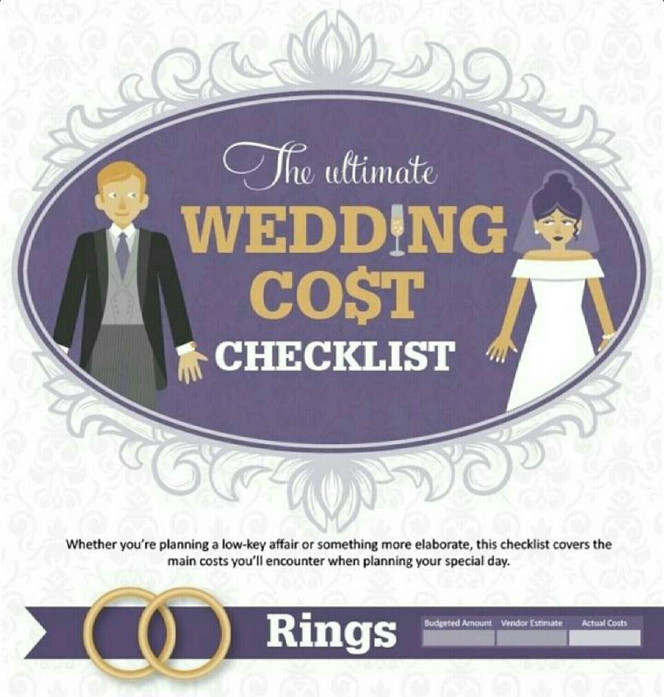 Wedding Cost Checklist By Jordan Johnston Musely
