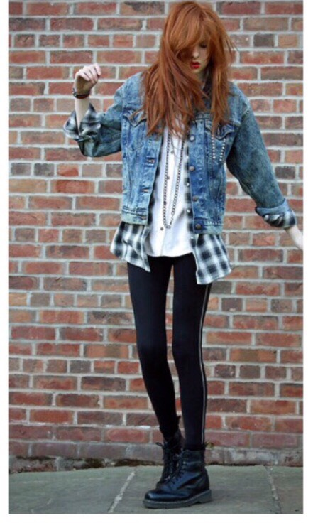 A denim jacket and a flannel shirt would match extremely well together giving you a 90s grunge look